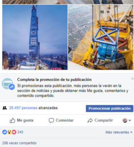 Revista del Ascensor Facebook alcance