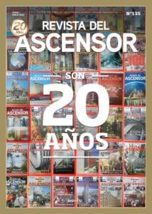 Tapa revista del ascensor 20 años