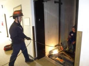 rescate en ascensor
