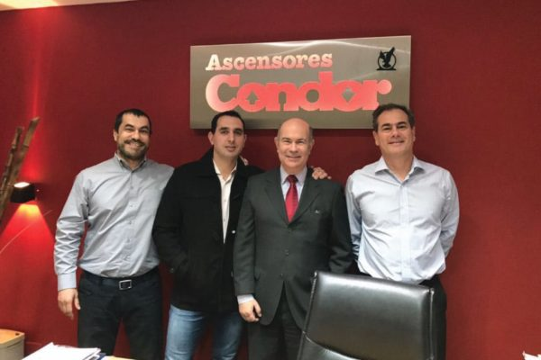 From right to left : Juan L. Sánchez, Cdor. Daniel Barnade, Santiago Sol and Pablo Gerez.