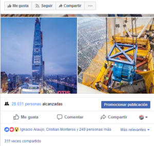 Facebook revista del ascensor