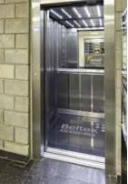 El ascensor ultramoderno de la planta