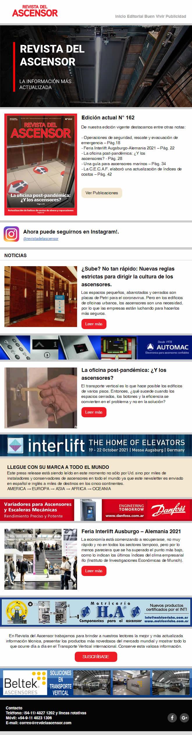 ¿Sube? No tan rápido: Nuevas reglas estrictas para dirigir la cultura de los ascensores. – La oficina post-pandémica: ¿Y los ascensores? – Feria Interlift Ausburgo – Alemania 2021