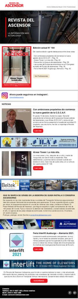 Revista del Ascensor Nro 164