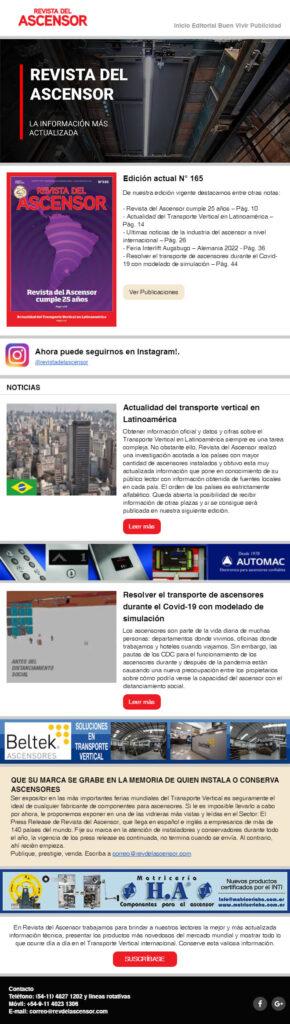Revista del Ascensor Nro 165